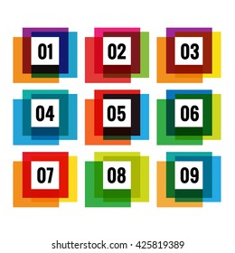Set of colorful abstract banners. Graphic banners design with overlay colors. Options set.