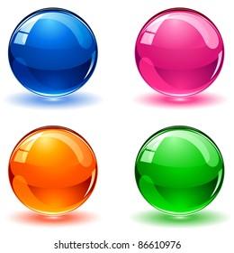 Set of colorful balls on white background, illustration