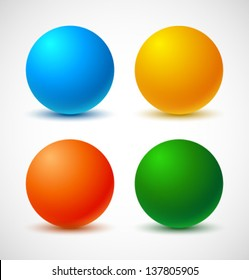 Set of colorful balls. Vector illustration.