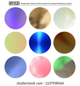 Set of colorful blurred round spots for your labels
