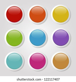 set of colorful buttons
