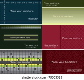 Set of colorful card vector