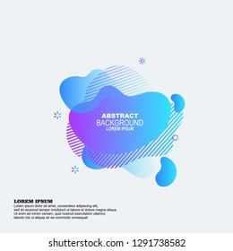 Set of colorful elements, gradient abstract shape for banner. Fluid geometric frame. Vector flat design for business cards, invitations, gift cards, flyers, brochures label amoeba design