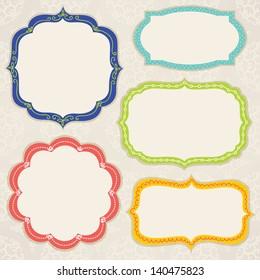 Set of colorful frames