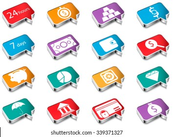 A set of colorful icons of volume