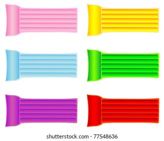 Set of colorful inflatable air mattresses