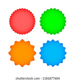 Set colorful  labels on white background. Vector stickers.