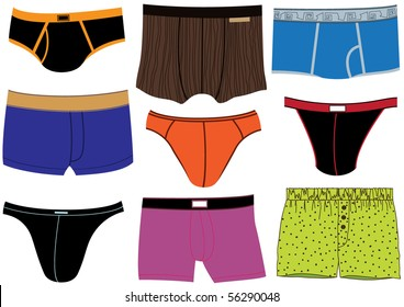 Set of colorful man underpants