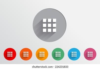 Set of colorful menu icon