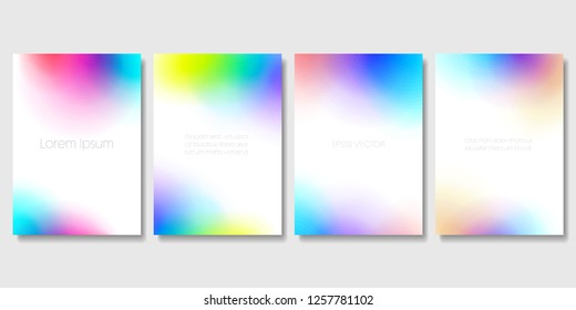 Set of Colorful Modern Templates with Abstract Blurred Graphic Elements. Applicable for Banners, Posters, Web Backgrounds and Cover Prints. EPS 10.