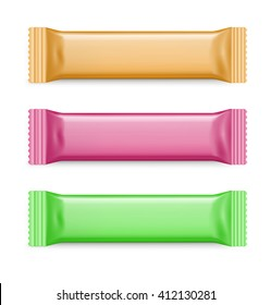 Set of colorful packing bar. Vector illustration. It can be used in the adv, promo, packadge, etc.