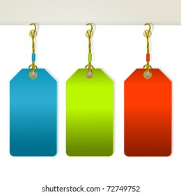 Set of colorful price tags . Vector eps10 illustration