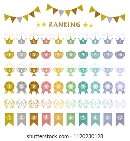 set of colorful ranking icons / vector eps 10 illustration
