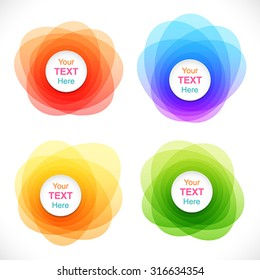 Set of colorful round abstract banners.