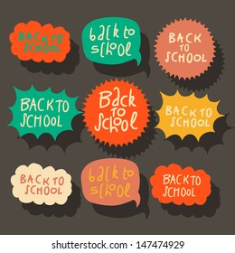 Set of colorful speech bubbles, vector illustration.