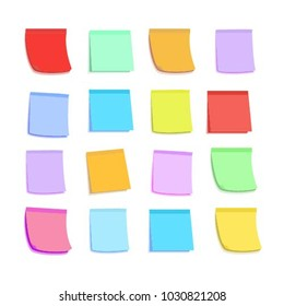 Set of colorful stickers on white background. Isolated vector elements