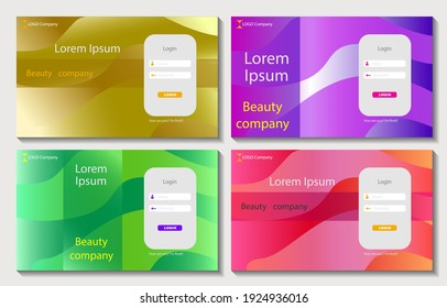 Set of colorful templates for web sites. Vector illustration concepts for website and mobile website design and development, business applications, marketing, social media applications, time managemen