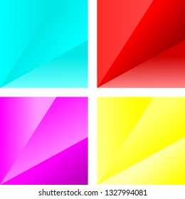 Set of colorful vector abstract bckground