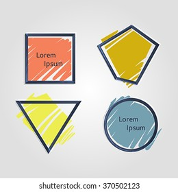 Set of colorful vector shapes. Abstract vector banners. Design elements