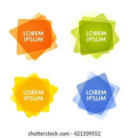 Set of colorful vector shapes. Abstract vector banners. Design elements. Eps 10