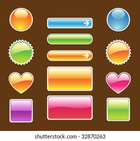 set of colorful web buttons- vector