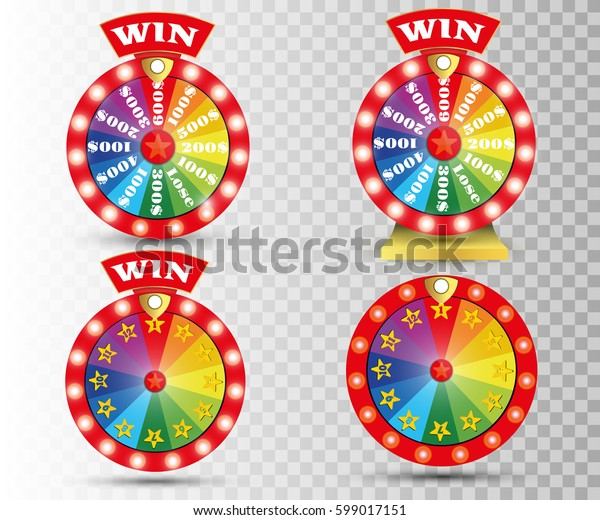 Set of colorful wheel of fortune or fortune infographics. Vector illustration.