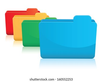 set of colourful folders