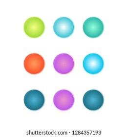 set of colourfull circle for background your logo