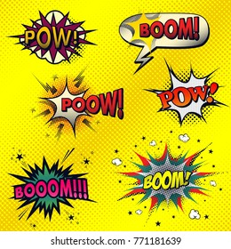 Set of comic style sound effects.