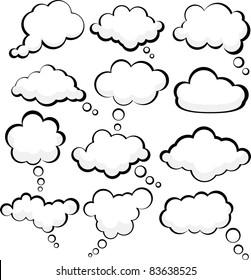Set of comic style speech bubbles. Vector illustration.