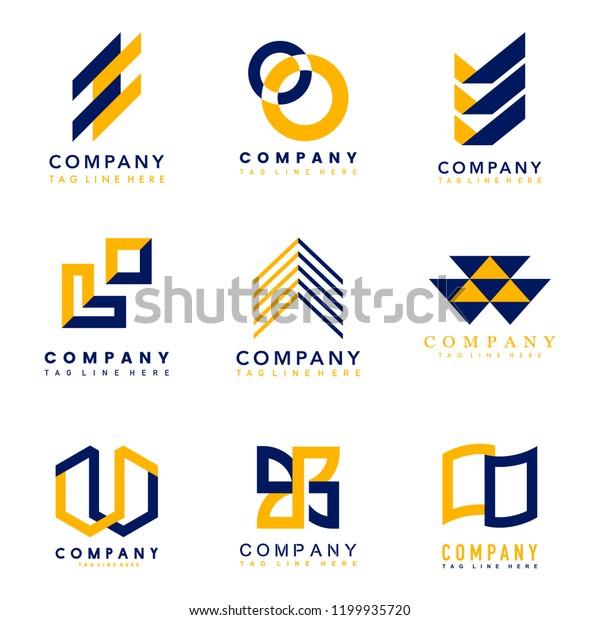 Set Company Logo Design Ideas Vector Stock Vector (Royalty ...