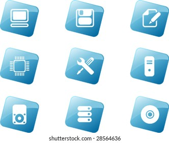 A Set of Computer Icons in Vector Format.