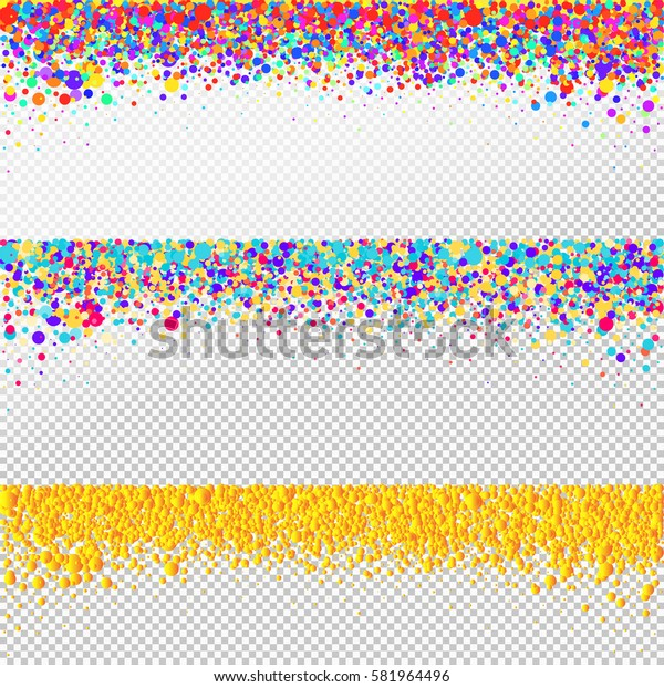 Set of confetti background. Holiday vector. Celebration, festival, winning or carnival concept. Colorful confetti pieces illustration for web design, creative projects or printed products