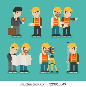 Set of construction worker , eps10 vector format