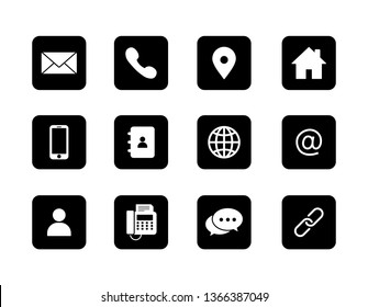 set of contact icons. isolated on white background. vector illustration.