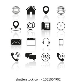 Set of contacts us icons