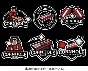 Set of cornhole Logo. Cornhole logo and badge. Cornhole vector illustration