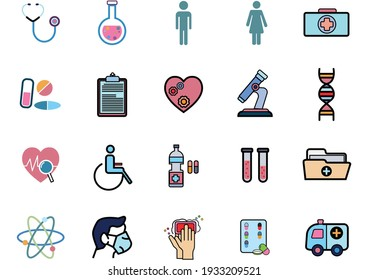 Set of Coronavirus Protection Related Vector icon.In closes such icons as cleaning,protect covid-19,hand dryer,soap,wipe,sanitary and more.Vector health and Prevent disease concept.