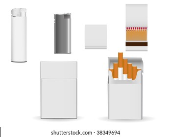 Set of corporate or business packaging objects for your own designs.