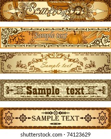 Set of country style banners