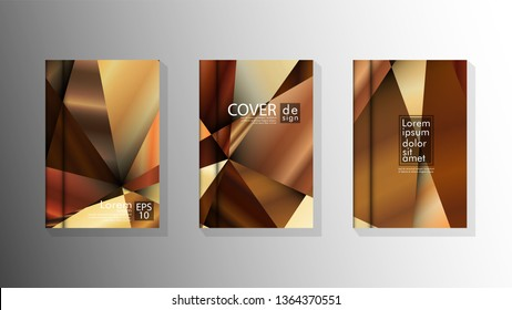 Set Cover design Triangle background abstract with luxurious colors