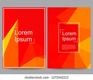 Set of covers, abstract brochure, flyer banner template design with grey background