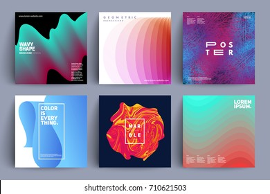 Set of covers with different style designs. Eps10 vector.