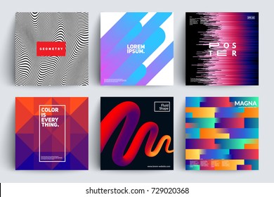 Set of covers with Trendy designs. Eps10 vector templates.