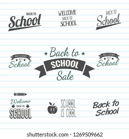 Set of craft and art labels, tags with lettering. Tender colors. Vector illustration. - Vector