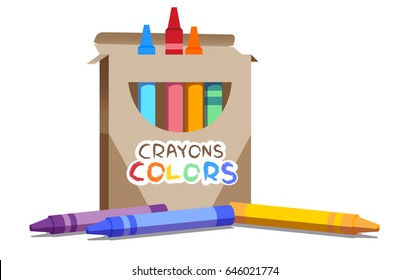 a set of crayons contains seven rainbow colors