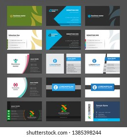 Set of creative business cards templates