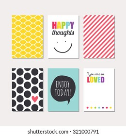 Set creative cards design vector design stock vector 2018 set of creative cards design vector design templates for journal cards scrapbooking cards m4hsunfo Image collections