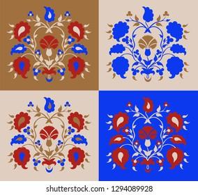 "Set Crimean Tatar pattern ""Tree of Life"""