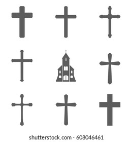 Set of cross icon